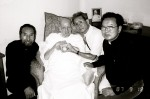 Visiting Fr. Arrupe in 1987