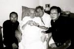 Visiting Fr. Arrupe in 1987
