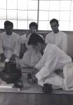 Performing a tea ceremony