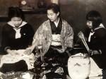The three sisters, from left: Sachio, Kanoe, Kunie